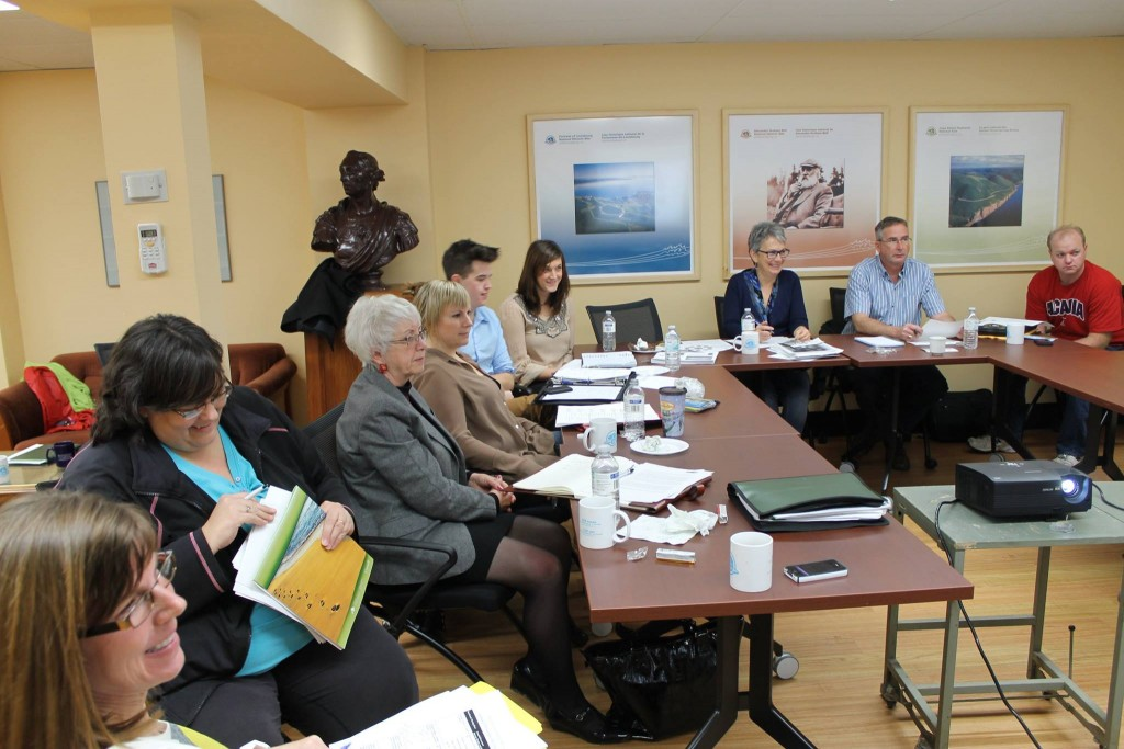 Synergy Louisbourg Development Association members during a meeting.